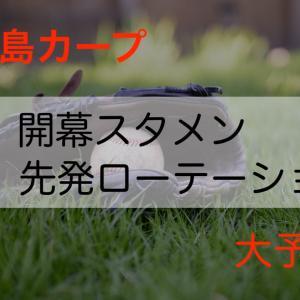 最新2020年広島カープのスタメン・開幕投手予想!田中広輔は復活か?