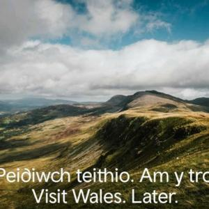 Visit Wales. Later.
