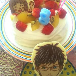 わこちゃん、8才の誕生日ケーキ