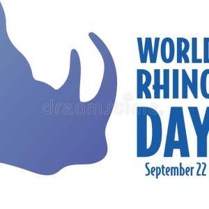世界サイの日/World Rhino Day