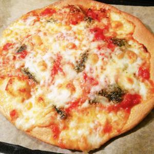 低糖質ピザ、焼きました(20191207)
