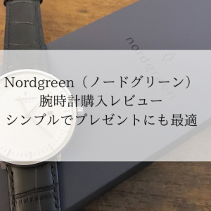 Nordgreen(ノードグリーン)腕時計購入レビュー シンプルでプレゼントにも最適!