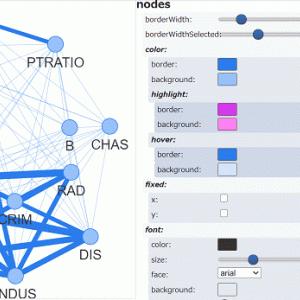 【Python】相関関係をグラフ(ネットワーク)で可視化する【Pyvis】