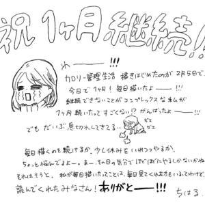 カロリー管理生活【祝】1か月継続!