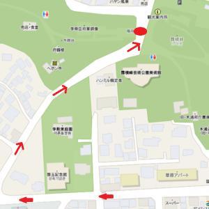 木浦9景の1つ儒達山 入り口までが既に軽い登山