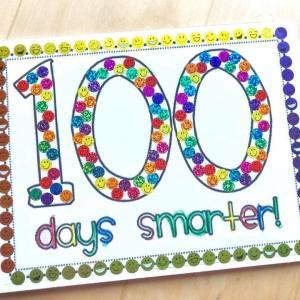 学校へ通い出して100日目のクラフト作り