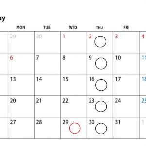 Lesson schedule of May