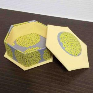 生徒さまの作品 六角形の箱