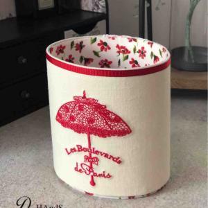 レッスン レーシーな日傘刺繍のオーバルスタンド