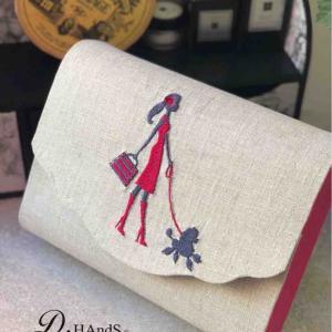 レッスン カーブの蓋のお道具箱 パリ刺繍とスモールスザンヌ
