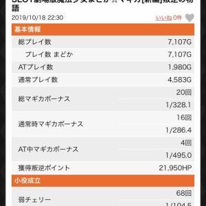 【まどマギ3 叛逆】直撃6回(1/893.0)たぶん設定6の詳細データ