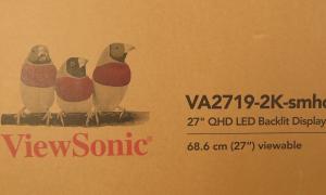WQHDモニター ViewSonic VA2719-2K-smhdを約28,000円で買った