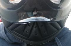 NEORIDERS FX3 ネオライダース FX3にマスクを付けてネオプレーンネックウォーマーを取り付けた