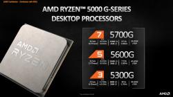 Ryzen5000GシリーズのAPU登場(ただしOEMのみ)したので今までのAPUと比較