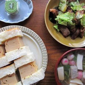 今日のご飯≪厚焼き玉子サンドイッチ≫