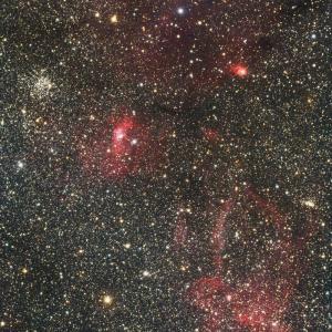 クワガタ星雲とバブル星雲