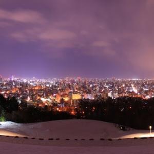 札幌の夜景と小樽運河
