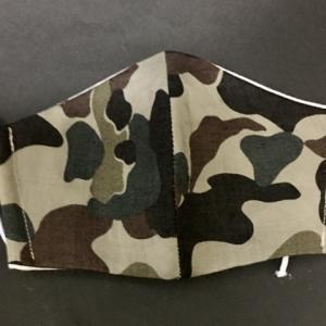 迷彩柄にひかれ布&ガーゼ制立体マスク購入