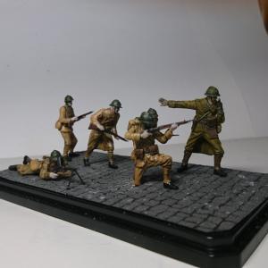 【ビネットに、してみた】タミヤ  1/35  WW2フランス歩兵セット