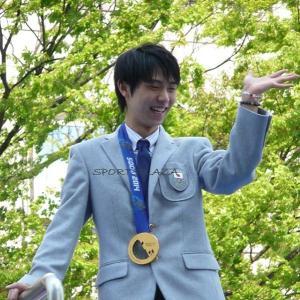 今日はソチオリンピック金メダル祝賀パレードから6年