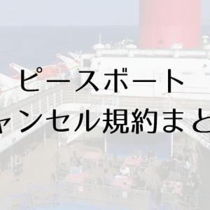 【コロナ対応】ピースボートキャンセル規約まとめ