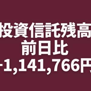 【急回復】投資信託残高チェックしたら前日比+1,141,766円でした