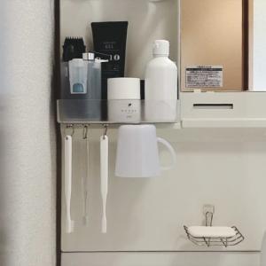 【100均×わが家の収納】セリア|マグネット用取付パネルにロングがあった!洗面所の歯ブラシの吊るす収納をグレードアップ