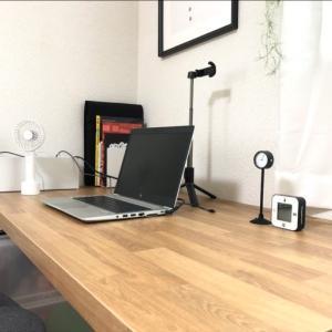 【主人部屋】在宅リモートワーク対策!IKEAの天板で広々快適なPCデスクが完成|IKEA SÄLJAN セールヤン ワークトップ オーク調 × OLOV オーロヴ 伸縮脚