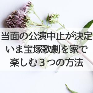 いま家で宝塚歌劇を楽しむ3つの方法(緊急事態宣言と当面の公演中止)