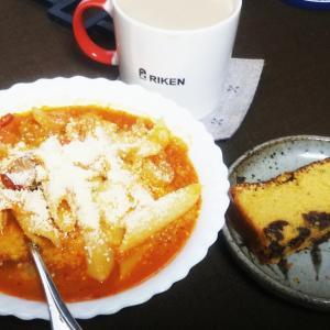 今日のごはんログ。他、簡易レシピ:ラムレーズンのケーキとか