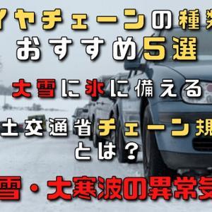 【2021年】タイヤチェーンの種類とおすすめ5選大雪に氷に備える