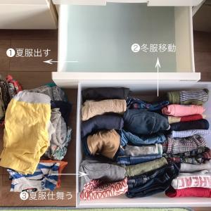 【衣替え】心の変化からくる子ども服の整理収納