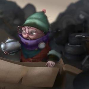 ゴミ捨て場に住むおばあちゃんが宝物をさがすショートアニメ『Treasure』