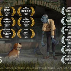 ゾンビになったご主人とそれを慕う愛犬のハートフルなショートアニメ『Dead Friends』