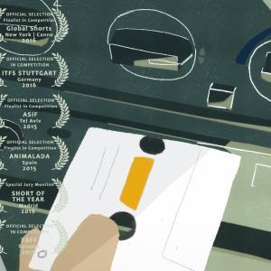 送り迎えの車で変化していく父と娘の心の移り変わりを描いたショートアニメ『Mirrors』