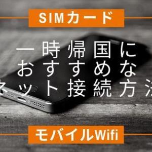 ◆海外在住者の一時帰国◆おすすめなネット接続!SIMカードとモバイルWIFIを比較!