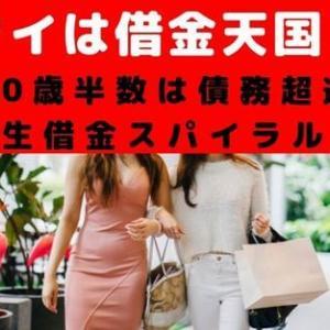 タイは借金天国!30歳で半数は債務超過に陥り借金スパイラルが続く!