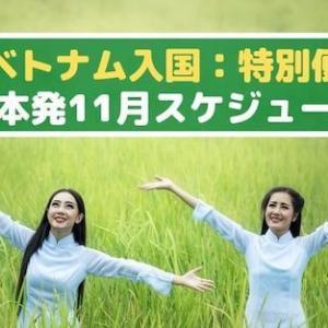 ◆ベトナム入国:特別便◆日本発:2020年11月スケジュール