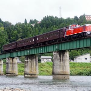 飯山線 魚沼川橋梁の旧客