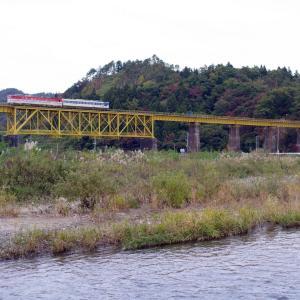 磐越西線 一の戸橋梁の40系列