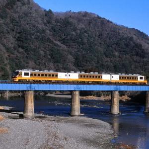 水郡線 なつかしの列車(189)第1那珂川橋梁の「こがね」