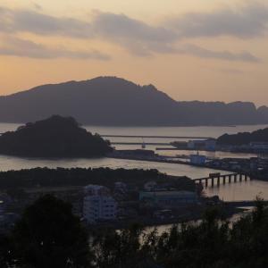 日南線 細田川橋梁の日の出前