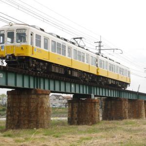 琴平電鉄琴平線 香東川橋梁の1000系