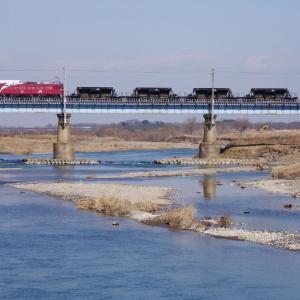 水戸線 鬼怒川橋梁のホキ