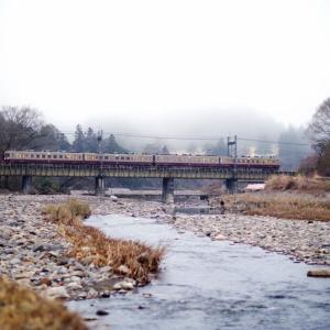 東武日光線 黒川橋梁のリバイバル6050系4連