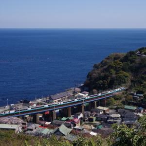 東海道本線 石橋橋梁のスーパービュー踊り子号