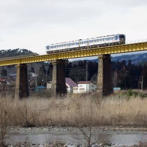 磐越西線 一ノ戸川橋梁の40系