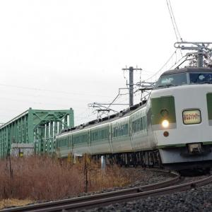信越本線 犀川橋梁のおはようライナー号