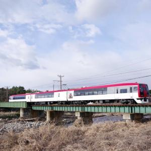 長野電鉄 朝の松川橋梁