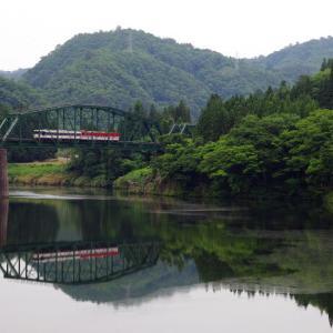 磐越西線 徳沢橋梁の夏